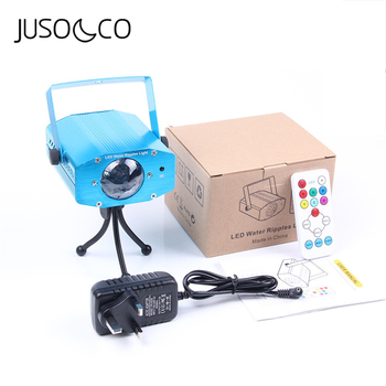 JUSOCCO Led Disco Stage Party Light Water Ripples Magic 7 Colors Stage Remote Sound Control Laser Club Lamp Projector Lighting цена 2017