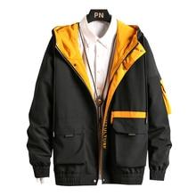 男性貨物ボンバージャケットデザイナー日本 steetwear 秋ビッグポケット原宿ヒップホップウインドブレーカーコート韓国のファッション、 GA401