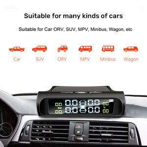 Image 3 - E ACE güneş enerjisi akıllı araba TPMS lastik basıncı izleme sistemi dijital ekran oto güvenlik Alarm sistemleri lastik basıncı
