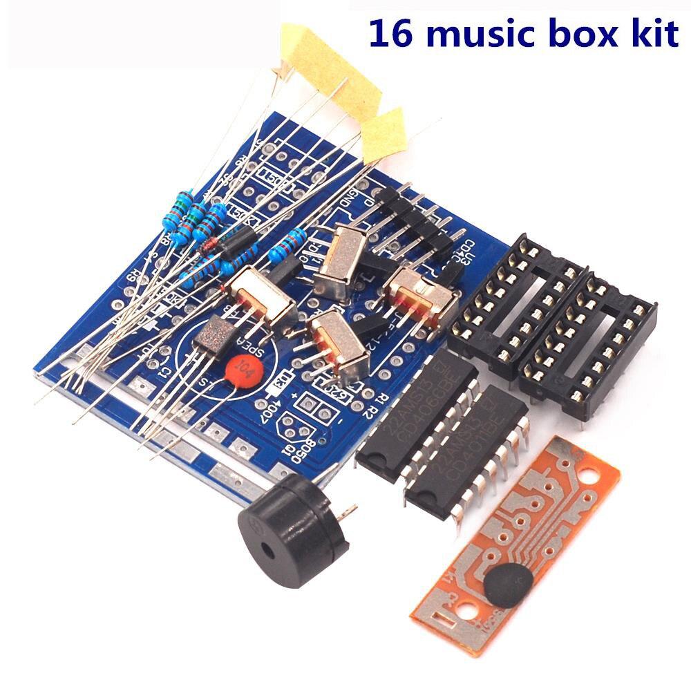 1set 16 Music Box 16 Sound Box 16-Tone Box BOX-16 Electronic Module DIY Kits