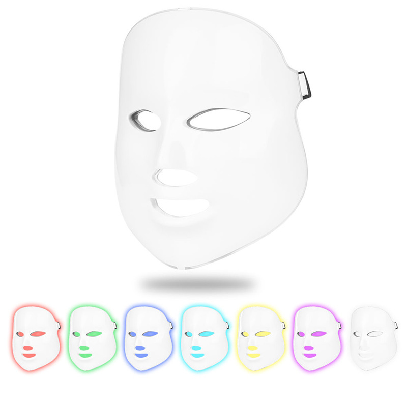 7 Color LED Photon Light Therapy Facial Mask Face Skin Rejuvenation Acne Treatment Wrinkles Removal Anti Aging Beauty Machine 45