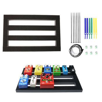 Guitar Effect Pedalboard 47X27 CM / 18.5X10.6 inches Guitar Pedal Board with Magic Tape Setup Kit Music Instrument Accessories electric guitar pedal board guitar effects pedalboard pedal musical instrument accessories