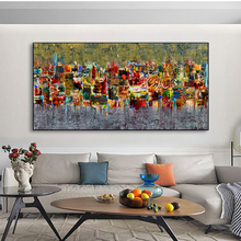 Abstract Mosaic Green Red Art Canvas Print Painting Wall Picture Living Room Home Decoration Poster