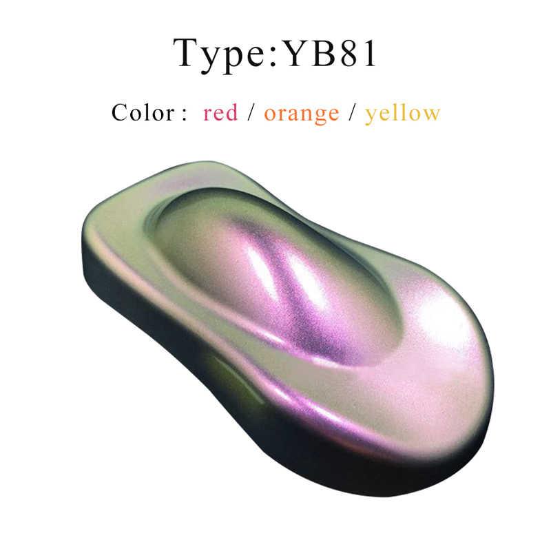 YB81 kameleon farba proszkowa kameleon Pigment dla motoryzacji sztuka i rękodzieło ozdoba do paznokci Changeabl
