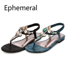 Ladies flat thongs shoes Elastic band Rome style sandals zap