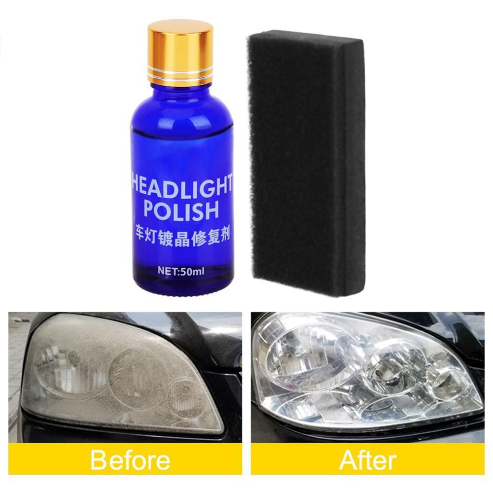 50ML Auto Car Headlight Repair Coating Kit Oxidation Rearview Coating Headlight Polishing Anti-scratch Coating Repair Liquid