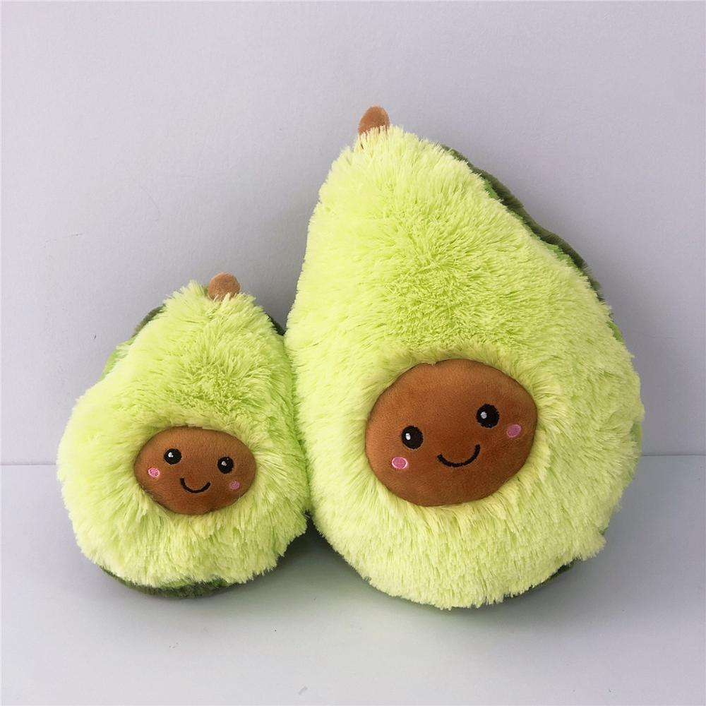 New Plush Avocado Stuffed Plush Toy Filled Doll Cushion Pillow Child Christmas Gift Girl Baby Toys New Year Cute Pillow