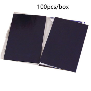 100 Pcs Thin Type School Transfer Graphite Copy Carbon Paper Office Supplies Double Sided Tracing Durable 32K Stationery Blue