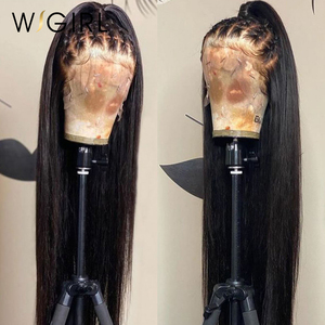 Wigirl 28 30 inch 360 Lace Front Human Hair Wigs Pre Plucked Brazilian 13x4 Straight Remy Lace Frontal Wig For Black Women Full