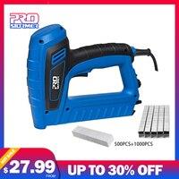 PROSTORMER Electric Staple Gun 2000W 220V 240V Power Adjustable Nail Gun Furniture Woodworking Upholstery Tools Nailer Stapler