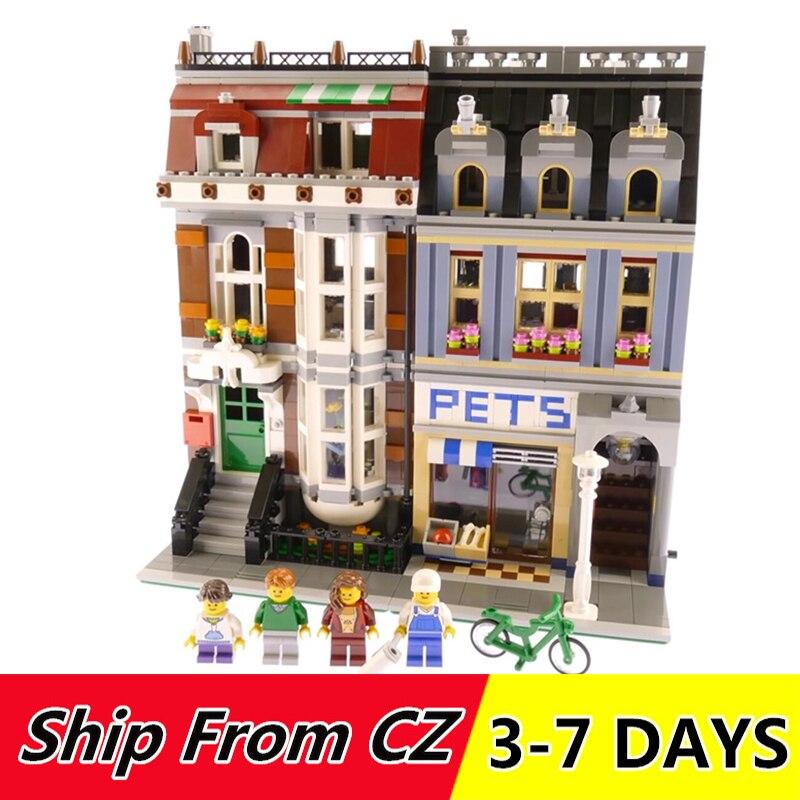 Roi briques 15009 15005 Pet Shop créateur blocs de construction compatibles avec 10218 10211 ville rue série jouets briques cadeau-in Blocs from Jeux et loisirs    1