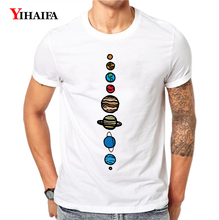 T-Shirt Mens Womens Fashion Colorful Earth Moon Planet 3D Print Graphic Tees Short Sleeve Casual White Tee Shirts Tops все цены