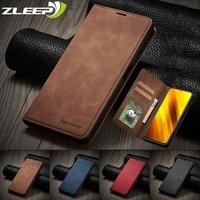 Funda magnética de cuero para teléfono Xiaomi, carcasa de lujo con tapa tipo billetera para teléfono móvil Xiaomi Poco X3 M3 F3 11i 10T Lite Redmi 9A 9C 9T Note 10 9 S 8 7 Pro Max