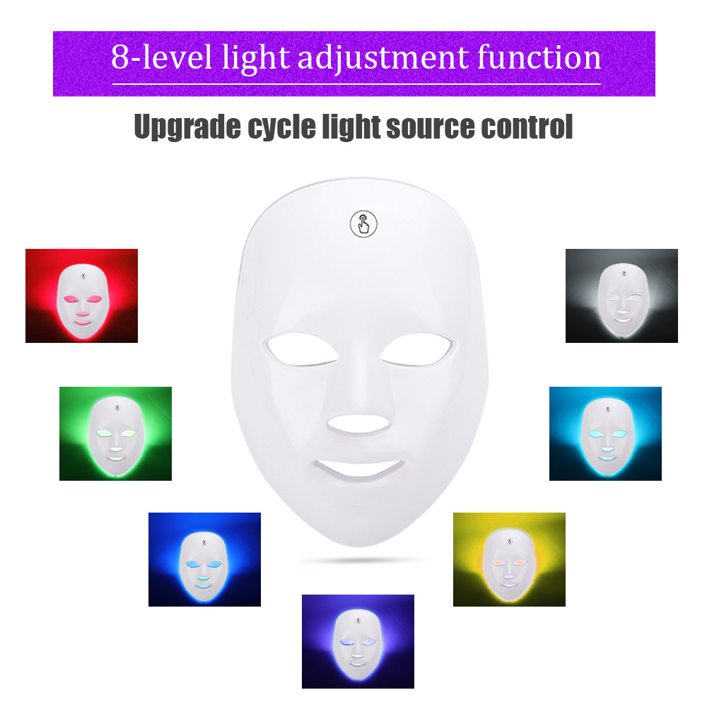 Led Facial Mask Photon Therapy 7 Colors Light Energy Beauty Mask Anti Acne Wrinkle Whitening Spot Removal Skin Care Face Care