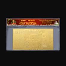 2 шт./компл. 10000 ЕВРО 24K Золотая фольга золотого цвета, праздничный банк реалистичные коллекция пластмассовые декоративные настенные часы подарок на год