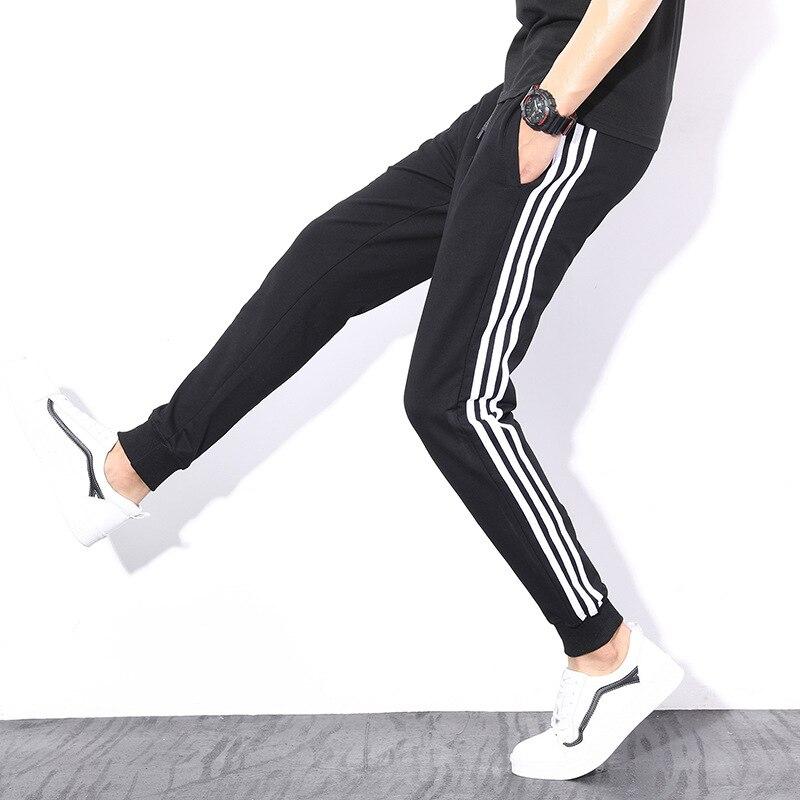 MEN'S Sports Pants Beam Leg Casual Pants Small Feet Long Pants Four Seasons Sweatpants Running Loose-Fit Korean-style Slim-Fit P