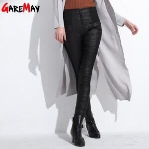 Image 3 - Kış kadın aşağı pantolon artı boyutu kadife pantolon kalınlaşma ince termal kadın sıcak pantolon Legging yüksek bel pantolon