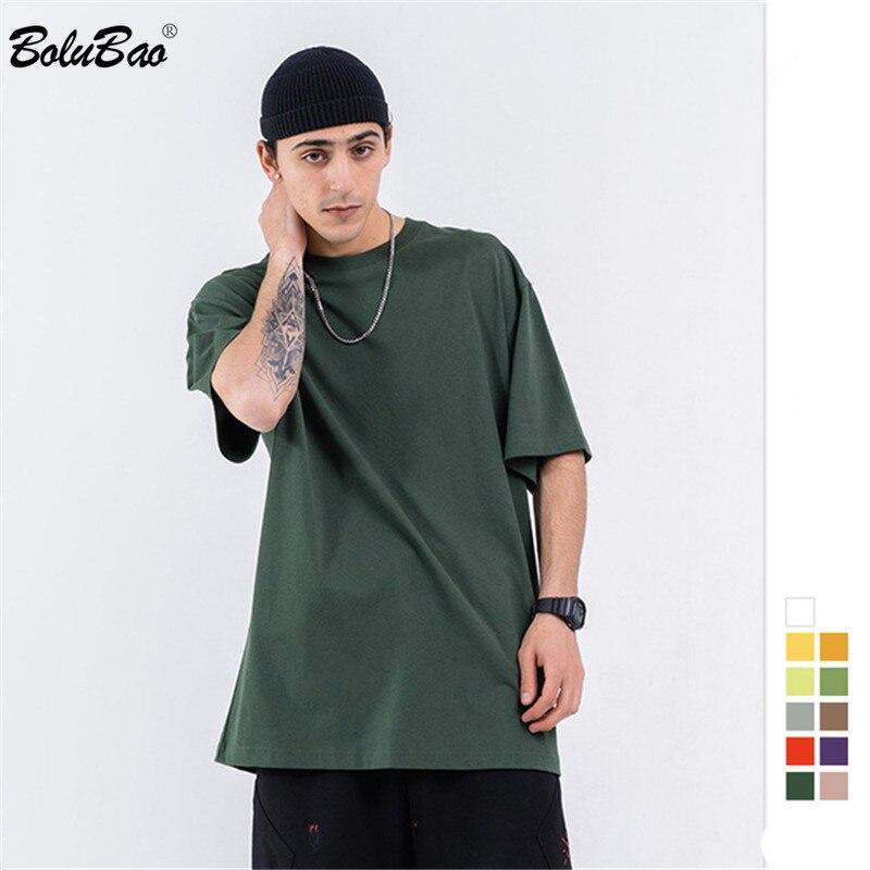 BOLUBAO Fashion Men T Shirt Trend Brand Men's EU Size Summer Casual T Shirt Wild Cotton Harajuku T-Shirts Male Top