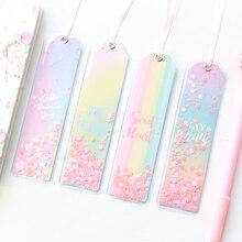 Domikee милые кавайные корейские креативные блестящие звезды с блестками офисные школьные закладки для заметок канцелярские принадлежности
