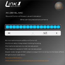 جهاز تسجيل مستوى الموسيقى من الجيل 1 مع لوحة طيف موسيقي أحادية اللون AGC لمكبرات صوت MP3 VU سماعات DC5V