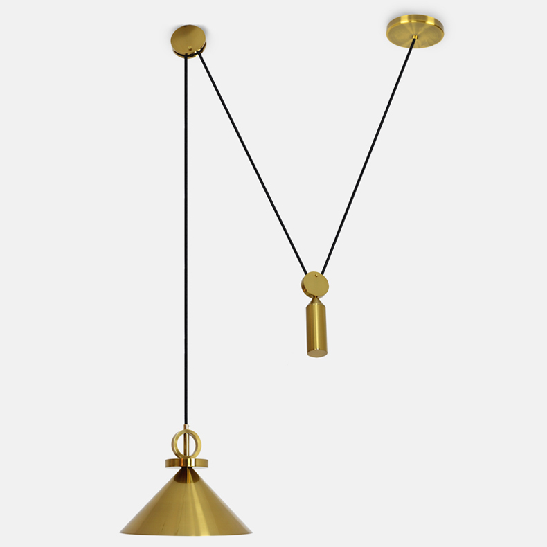 Nordic Denmark Design Pulley Pendant Lights Retro Art Bottle Dining Room Living Room Led Indoor Lighting Fixtures Free Shipping
