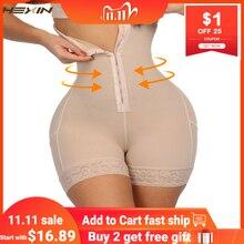 HEXIN 브레스트 레이스 엉덩이 기중 장치 높은 허리 트레이너 바디 Shapewear 여성 Fajas 슬리밍 속옷과 배꼽 컨트롤 팬티
