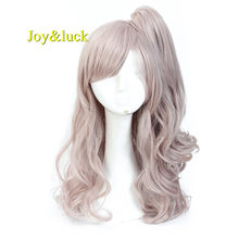 Joy&luck Long Wavy Cosplay Wigs With Ponytail Synthetic Wig for Women Costume Wigs(China)