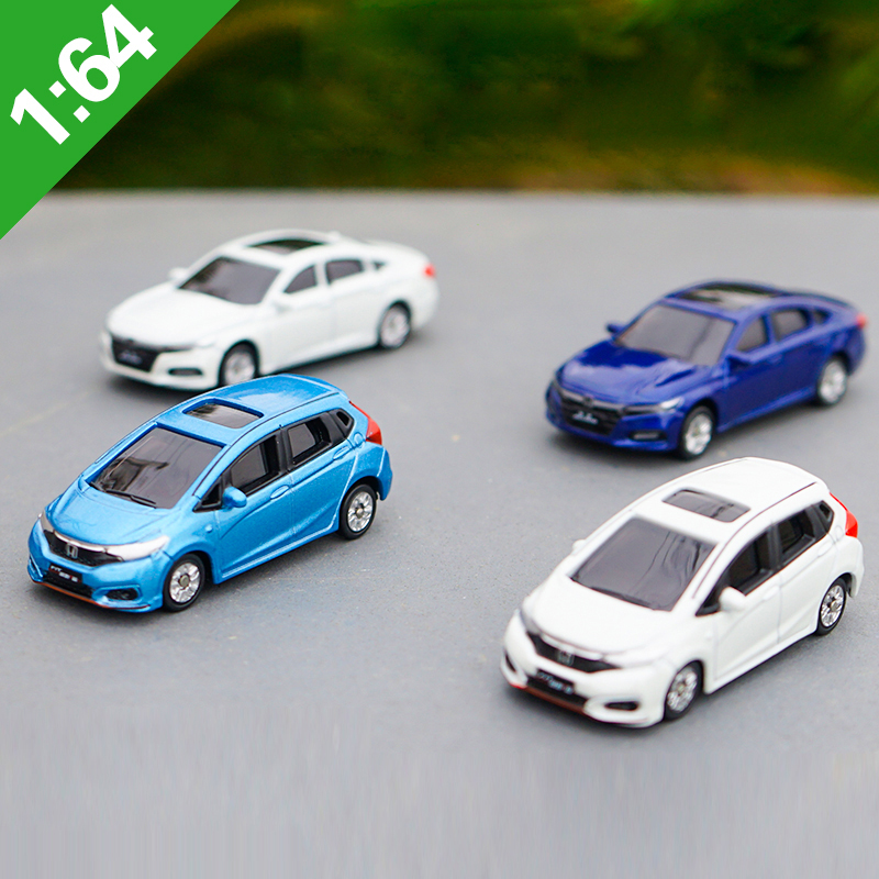 Original Box 1:64 HONDA FIT ACCORD Alloy Model Car Static Metal Model Vehicles For Collectibles Gift