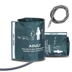 25-35 centímetros Adulto Cinto de Nylon Reutilizáveis BP Manguito de Pressão Arterial Braço Superior Bexiga TPU para Esfigmomanômetro Monitor de Paciente metro