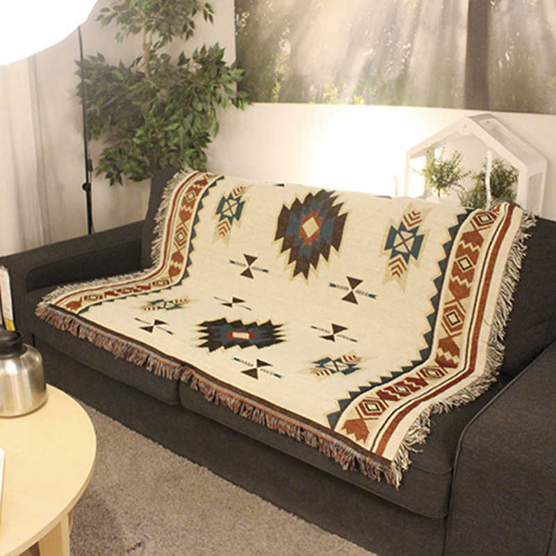 Aztec Navajo Sofa Handtuch Decke Werfen Teppich Matte Tribal Ethnic Geometrische Kunst Decor!