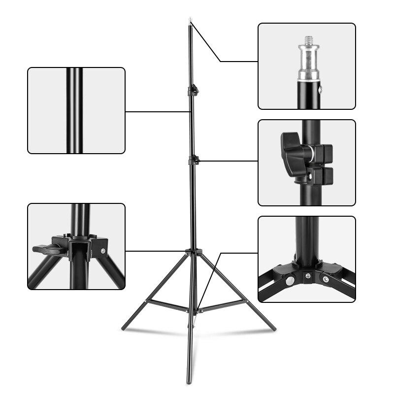 6.5 قدم/200 سنتيمتر التصوير ضوء تقف ل Refelctors ، سوفت بوكس ، أضواء ، المظلات