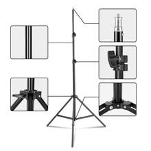 Heavy Duty מתכת אלומיניום סגסוגת 2m אור Stand חצובה עבור תמונה סטודיו Softbox וידאו פלאש רפלקטור תאורת רקע Stand