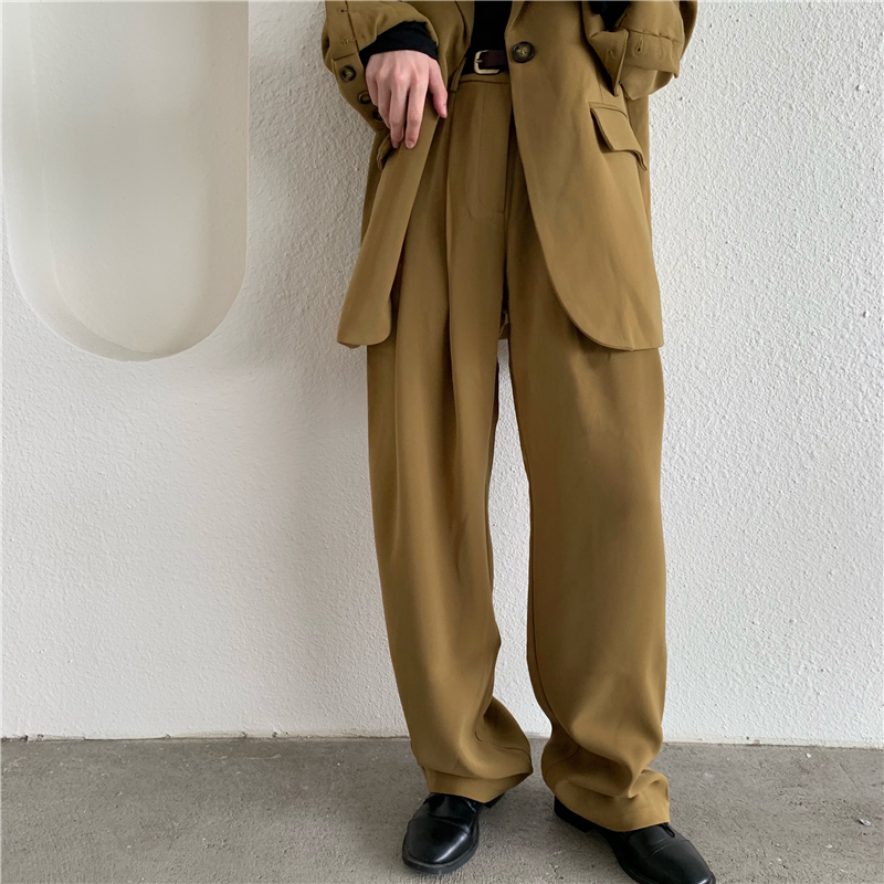 Office Lady Suit Pant Women High Waist Wide Leg Trouser Female Formal OL Style Work Pants Ladies Plus Size Fashion Elegant Pants