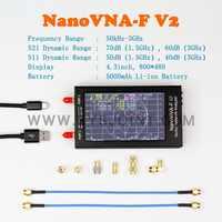 Analizador de red de Vector, medidor SWR de 4,3 pulgadas, IPS, TFT, de onda corta, UHF, HF, Antena VHF, 50KHz-3GHz, V2, nanovna-f, VNA