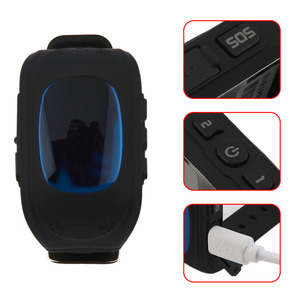 High Quality Q50 Children Smart Watch LED GSM GPRS Locator Tracker Anti-Lost Kids Watch for iOS Android
