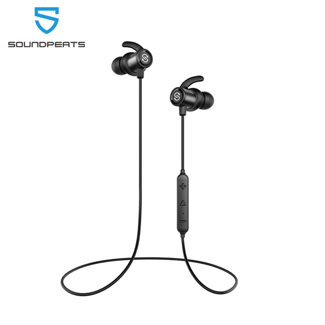 SoundPEATS Magnetische Bass Drahtlose Bluetooth In Ear Ohrhörer Sport IPX6 Wasserdichte Kopfhörer mit Mic für iPhone Q30 HD
