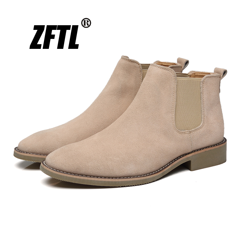 ZFTL NEW Men's Chelsea Boots Men's Boots Cow Suede Slip-on British Style Desert Boots Men's Casual Boots Men's Ankle Boots 155