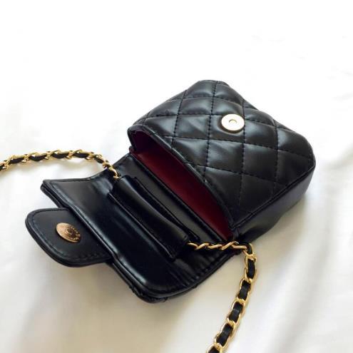 Brand Design Children Chain Small Messenger Bag Mini Flap Girl Fashion Purses Clutch Candy Color Lingge Korean Change Money Bag