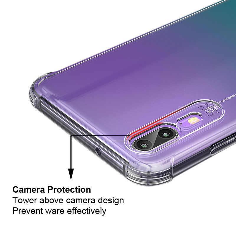 Per Huawei P20 P30 Honor 8 8A 8X 9 10 10i 20 20 20i Lite Pro V10 V20 Coque Trasparente antiurto Molle Del Silicone Copertura Della Cassa Del Telefono
