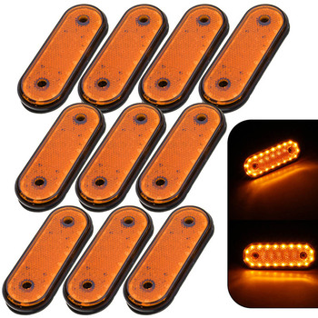 For Car Waterproof LED Trailer Truck Brake Light  Neon Halo Ring Tail Brake Stop Turn Light Sequential Flowing Signal Light Lamp vehemo 14 led truck car trailer boat caravan tail light brake stop lamp taillight