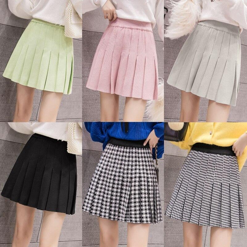 Photo Shoot Pleated Skirt Short Skirt High Waist Skirt Hong Kong Flavor A- Line Skirt Women's INS Super Fire New Style Skirt Puf