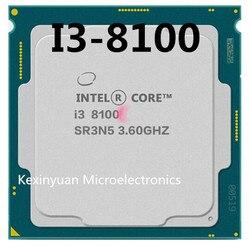 إنتل كور i3-8100 i3 8100 3.6 GHz رباعية النواة رباعية موضوع معالج وحدة المعالجة المركزية 6M 65W LGA 1151