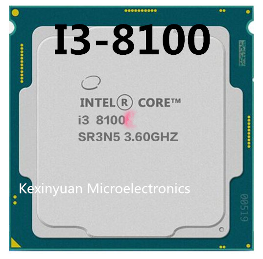 Intel Core I3-8100 I3 8100 3.6 GHz Quad-Core Quad-Thread CPU Processor 6M 65W LGA 1151