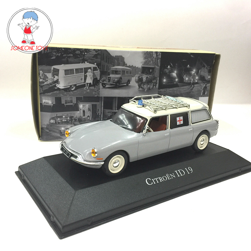 In Stock 1:43 Atlas Citroen ID 19 Alloy Ambulance Car Model Simulation Retro Classic Metal Vehicle Model Toys Collection