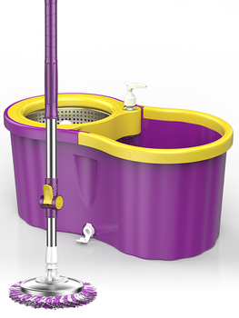 Double drive rotary mop automatic hand-free washing dry mop bucket mop squeeze water tow barrel wet and dry фото