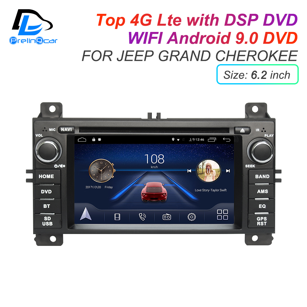 Discount IPS touch screen DSP sound Android 9.0 2 DIN 4g Lte radio For JEEP Grand Cherokee GPS DVD player stereo navigation 0
