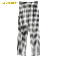 Pajama Bottoms Long-Pants Mens Plaid Black Soft Casual New Fashion Printing Minimalist-Style