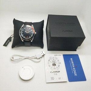 Image 5 - Kuzey kenar erkek spor akıllı saatler su geçirmez 50M pedometre nabız monitörü spor izci FLOAT dokunmatik tec ekran saati