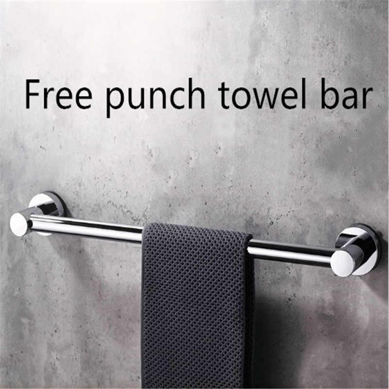 Простая однополюсная вешалка для полотенец без дырочек, присоска для полотенец, креативная черная стойка для полотенец для ванной комнаты