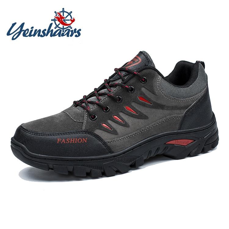YEINSHAARS haute qualité hommes chaussures de randonnée automne hiver en plein air hommes Sport Trekking bottes de montagne chaussures d
